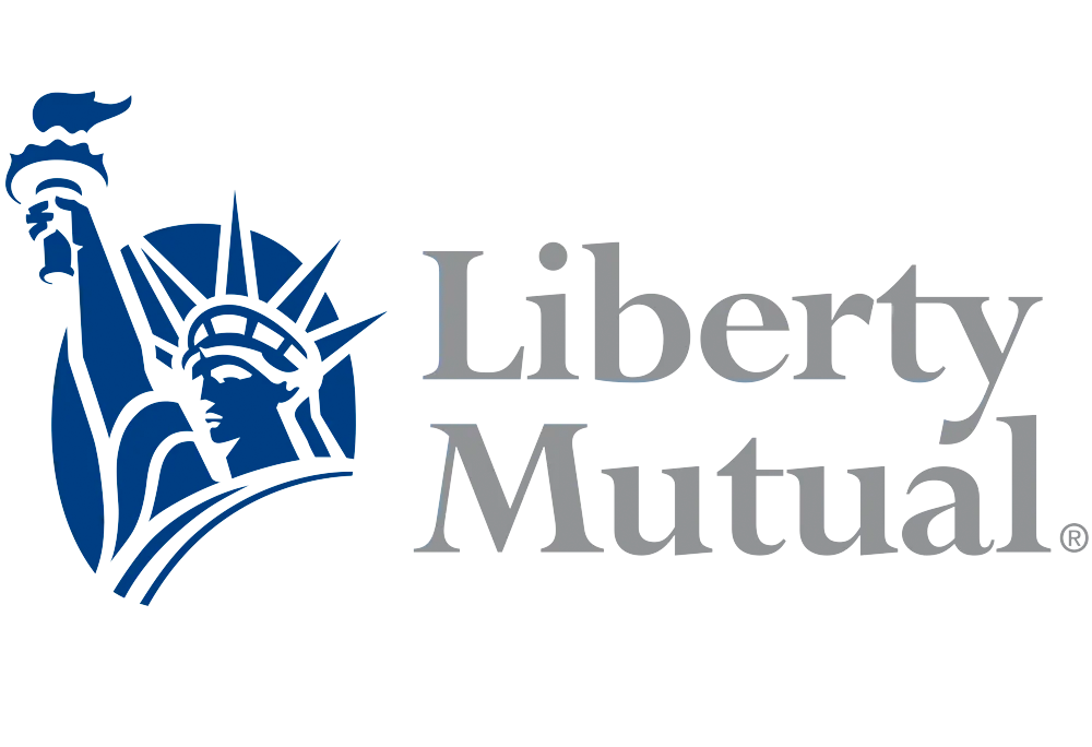 Liberty Mutual Logo with Statue of Liberty Icon on left